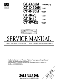 Service Manual Aiwa CT-X430M YH(ST)