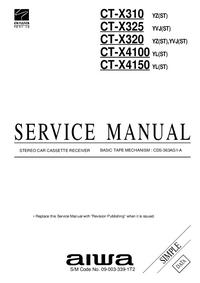 Руководство по техническому обслуживанию Aiwa CT-X4100 YL(ST)
