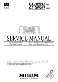 Руководство по техническому обслуживанию Aiwa CA-DW257 LH(S)