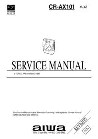 Service Manual Aiwa CR-AX101 YL