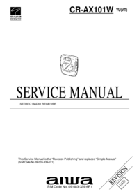 Service Manual Aiwa CR-AX101W YU(VT)