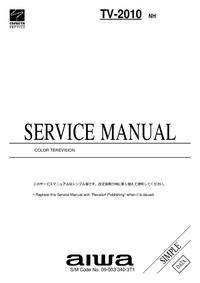 Manual de serviço Aiwa TV-2010 NH