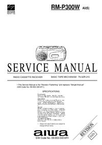 Manual de serviço Aiwa RM-P300W AU(S)