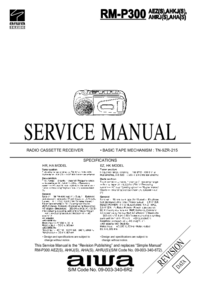 Manuale di servizio Aiwa RM-P300 AHA(S)