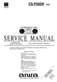 Manuale di servizio Aiwa CS-P500W AU(S)