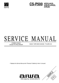 Service Manual Aiwa CS-P500 AK(S)
