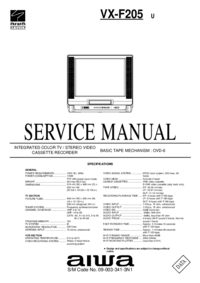 Руководство по техническому обслуживанию Aiwa VX-F205 U