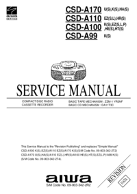 Service Manual Aiwa CSD-A110 HR(S)