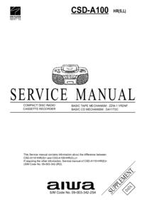 Manual de serviço Aiwa CSD-A100 HR(L)