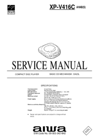 Manual de servicio Aiwa XP-V416C AHAB(S)