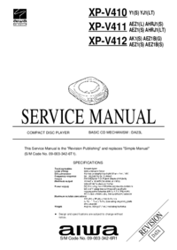 Manual de servicio Aiwa XP-V411 AHRJ1(LT)