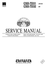 Instrukcja serwisowa Aiwa CSD-TD31 LHS US