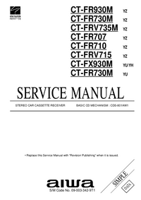 Service Manual Aiwa CT-FR930M YZ