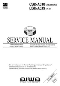 Service Manual Aiwa CSD-A510 K(S)