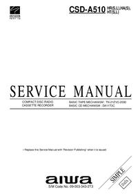 Instrukcja serwisowa Aiwa CSD-A510 HR(S)