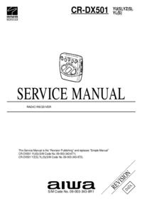 Руководство по техническому обслуживанию Aiwa CR-DX501 YL(S)