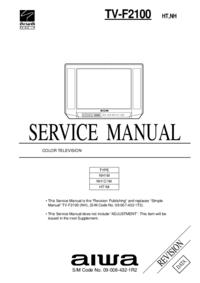 Manual de serviço Aiwa TV-F2100