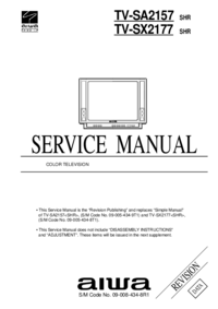 Service Manual Aiwa TV-SX2177