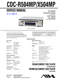 Service Manual Aiwa CDC-R504MP