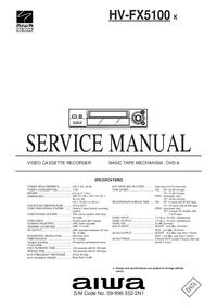 manuel de réparation Aiwa HV-FX5100