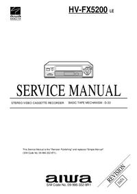Servicehandboek Aiwa HV-FX5200