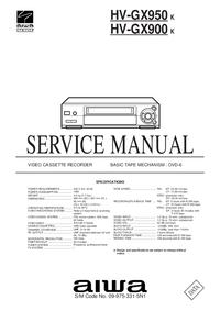 Serviceanleitung Aiwa HV-GX900