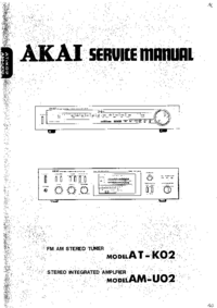Service Manual Akai AT-K02