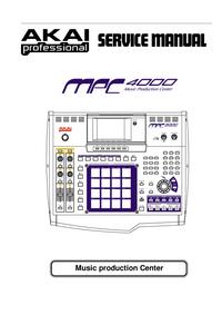 Instrukcja serwisowa Akai MPC 4000