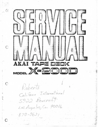 Instrukcja serwisowa Akai X-200D