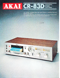Catalogo Akai CR-83D