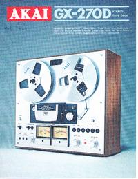 Catalogus Akai GX-270D