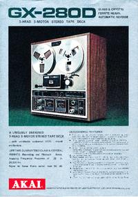 Catalogo Akai GX-280D