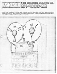 Katalog Akai GX-400D-SS