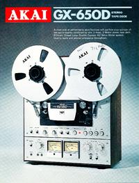 Catalogue Akai GX-650D