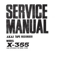 Manuale di servizio Akai X-355