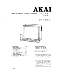 Manual de servicio Akai CT-2158