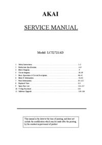 Manuale di servizio Akai LCT2721AD