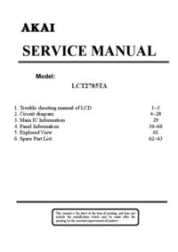 Service Manual Akai LCT2785TA