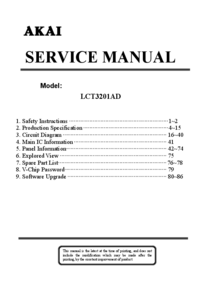Service Manual Akai LCT3201AD
