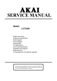 Руководство по техническому обслуживанию Akai LCT3226