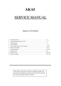 Service Manual Akai LCT3285TA