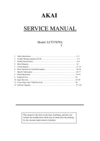 Manual de servicio Akai LCT3785TA