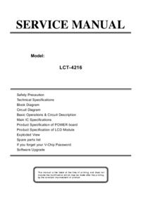 Руководство по техническому обслуживанию Akai LCT-4216