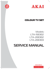 Manuale di servizio Akai LTA-20E302