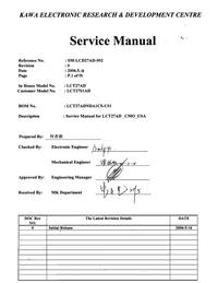 Руководство по техническому обслуживанию Akai LCT2701AD