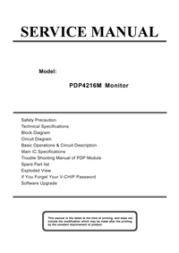Service Manual Akai PDP4216M