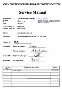Руководство по техническому обслуживанию Akai PDP4273M