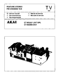 Manual de servicio Akai CT-W2855