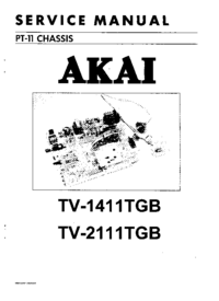 Manual de servicio Akai TV-2111TGB