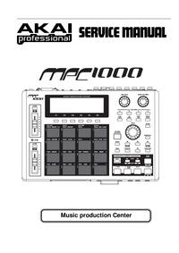 Instrukcja serwisowa Akai MPC 1000